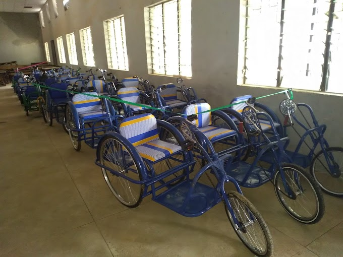A CORP MEMBER SINGLE HANDEDLY DONATES 30 WHEEL CHAIRS TO DISABLES IN BAUCHI