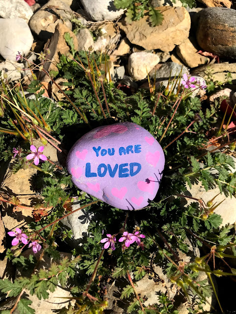 painted rocks, kindness rocks, rock painting, pet rock, blah to TADA, Crafts for a Cause, nature crafts, acrylic paint, paperweights, you are loved