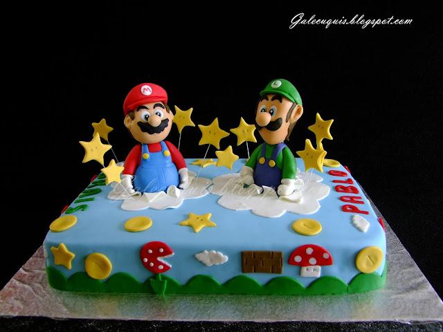 Tarta fondant Super Mario y Luigi