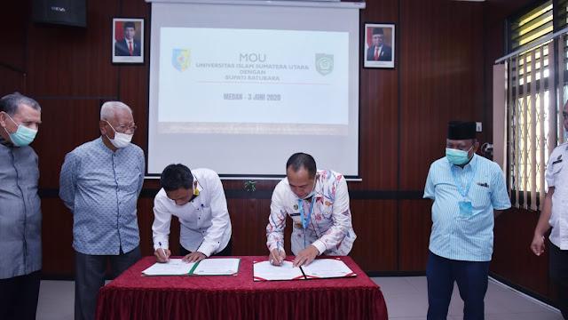 Bupati Batu Bara Tandatangan, Nota Sepahaman Dengan Universitas UISU, Kualitas Pembangunan Daerah