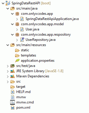 project directory structure - spring boot restful web services json example - crud example