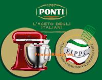 Logo Concorso '' Ponti, l'Aceto degli italiani 2020'' : vinci robot KitcheAid e cene Gourmet