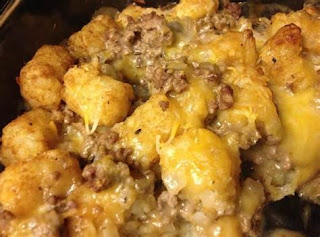 comfort food, Easy recipe, frugal recipe, recipe, recipes, Tater tot casserole