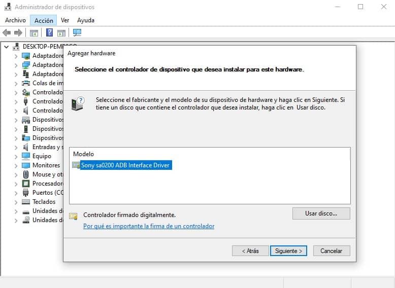 Pasos para instalar drivers USB Sony Xperia