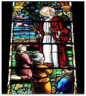Vitrais da Igreja de Arroio do Meio (RS) - Jesus prega para as crianças
