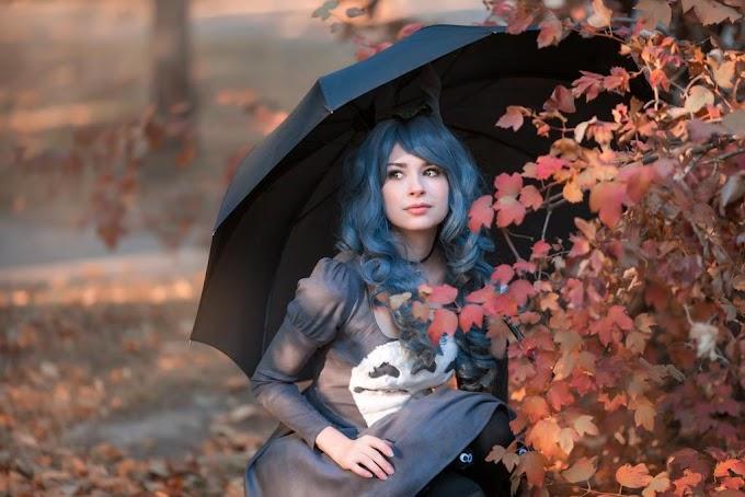 Zaryunya  con su precioso cosplay de Totoro en modo Lolita.