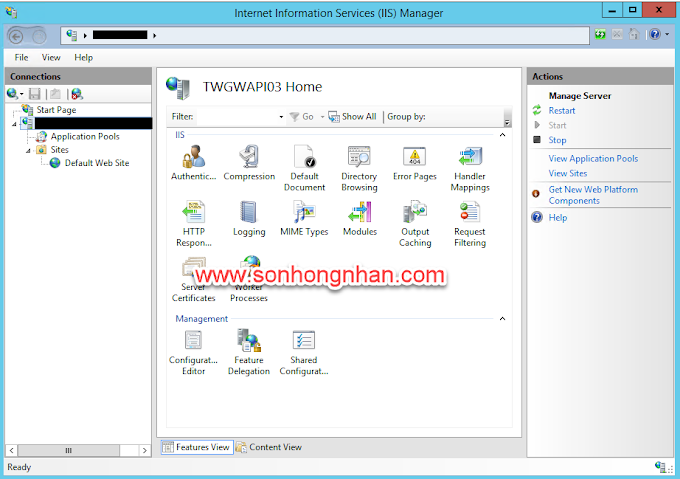 How to backup and restore config on iis 7.5