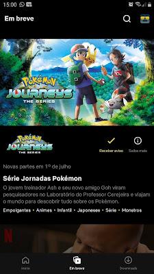 Jornadas Pokémon Netflix Brasil