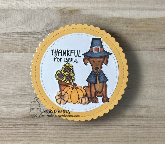 STAMPtember Exclusive stamp set by Newton's Nook--Talk Turkey to Me