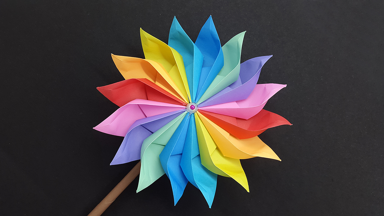 Origami Transforming Pinwheel : 5 Steps (with Pictures ... | 720x1280