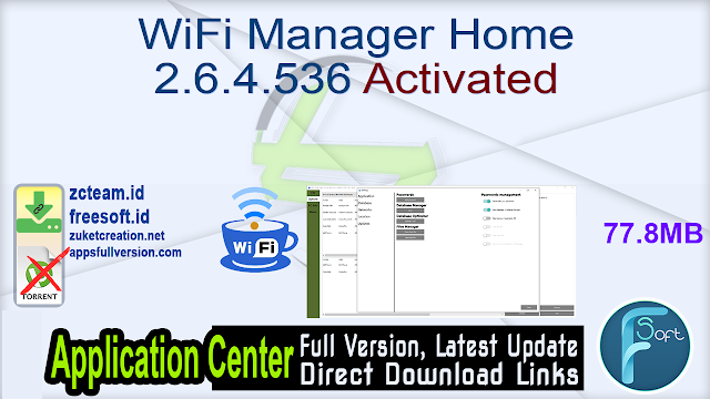WiFi Manager Home 2.6.4.536 Activated