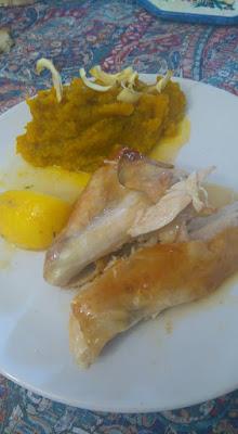 poulet et chips de panais
