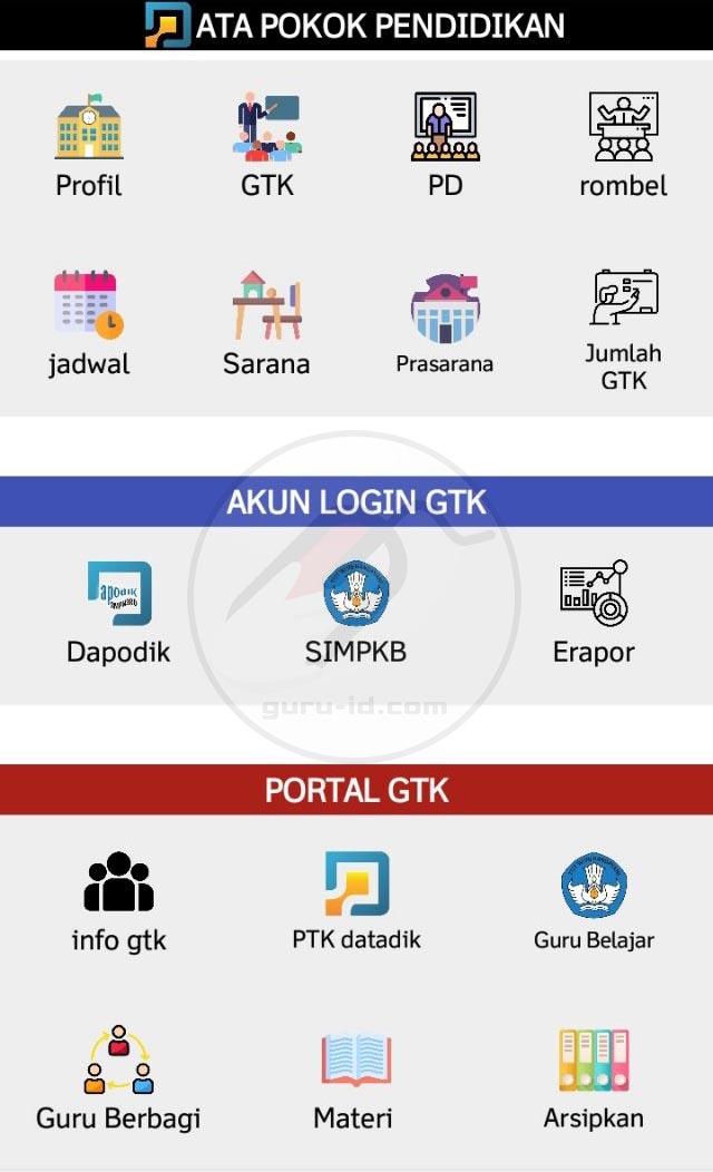 gambar aplikasi arsip Dapodik 2021