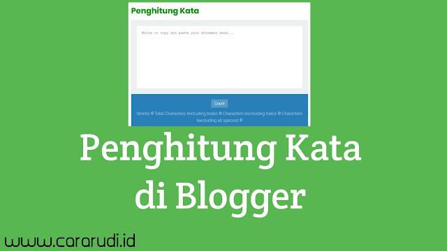 Membuat Penghitung kata di Blogger