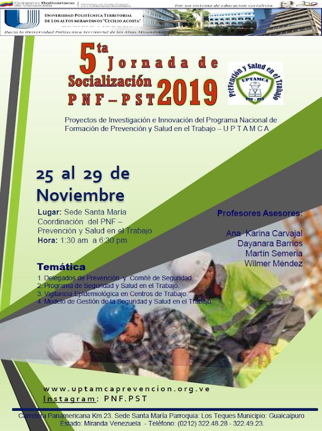 5ta Jornada de Socialización PNF-PST 2019