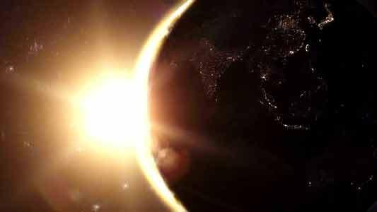 تحميل تنزيل فيديو نادر لتصوير حي للأرض في الفضاء للمونتاج بجوده فائقه بدقة HD . Planet Earth  Sunrise Series Stock Footage HD