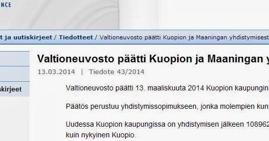 Kuopio Ruotsiksi
