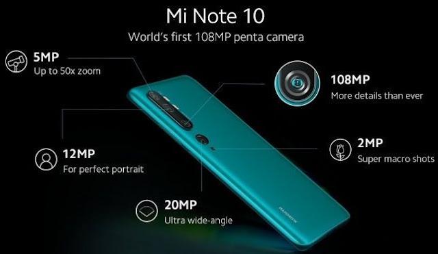 Detail pengaturan kamera penta Xiaomi Mi Note 10