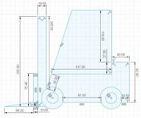 Sketch Forklift Load Backrest