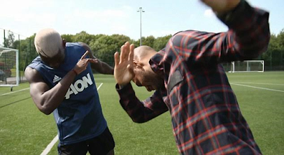£100m Paul Pogba and his idol Thierry Henry do the dab dance (photos)