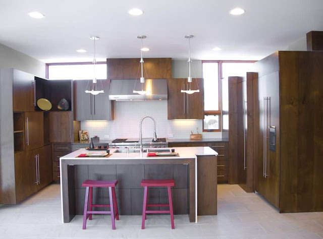 Inspirasi Ide Desain Dapur Minimalis Asia dengan finishing hpl
