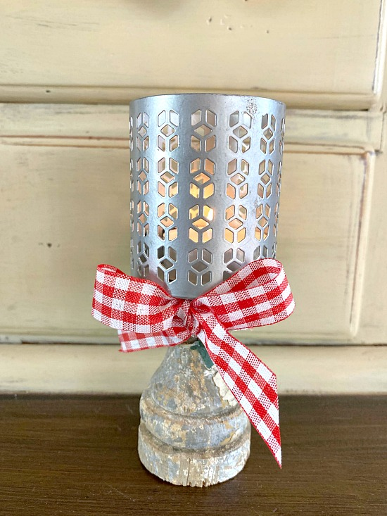 Repurposed Pedestal Tea Light Candle Ideas
