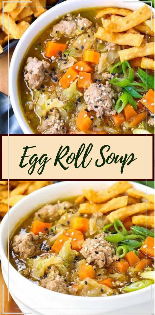 Egg Roll Soup #vegan #vegetarian #soup #breakfast #lunch