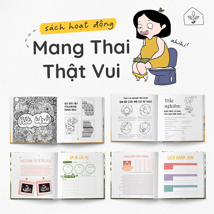 [A116] Activity book: Combo sách thai giáo không thể thiếu cho Bà Bầu