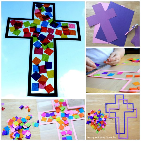 Learning And Exploring Through Play Cross Suncatcher Craft
