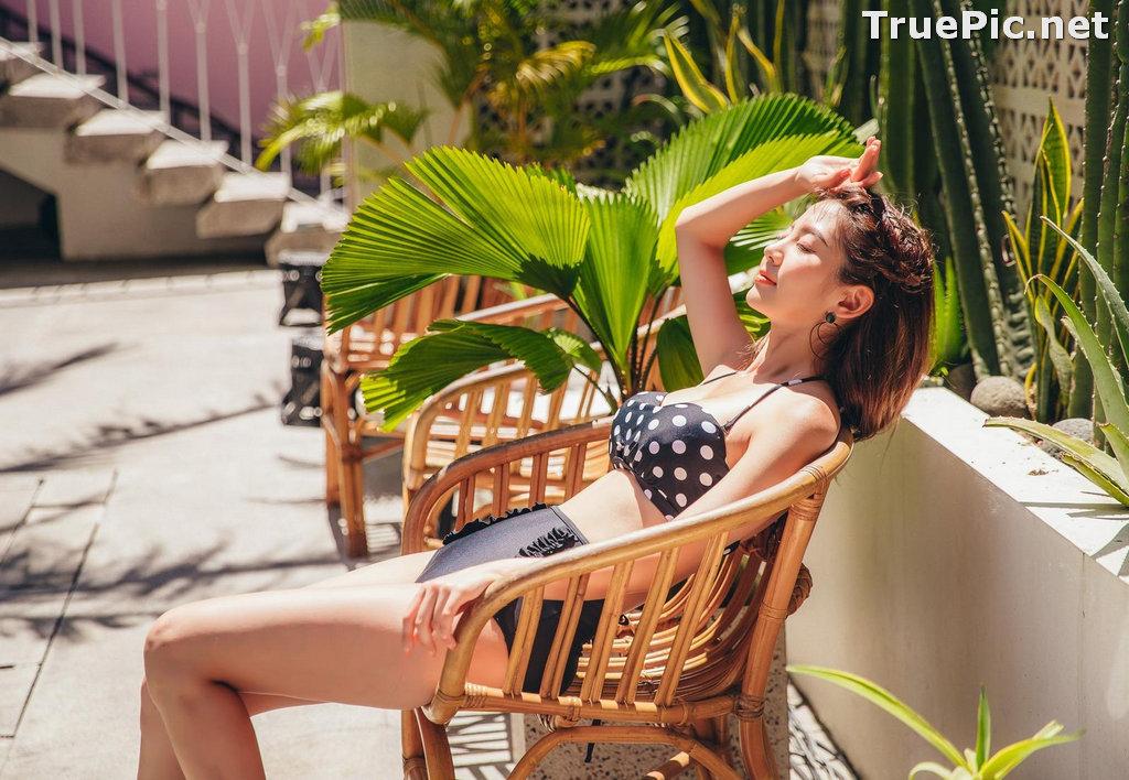 Image Korean Fashion Model - Lee Chae Eun - Flory Dot Bikini - TruePic.net - Picture-7