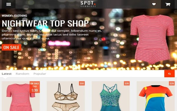 SpotCommerce Blogger Template (eCommerce Template)