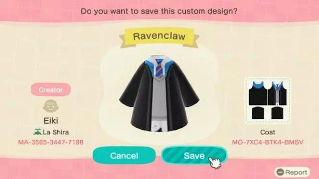 Kode Pakaian Harry Potter Animal Crossing New Horizons-1