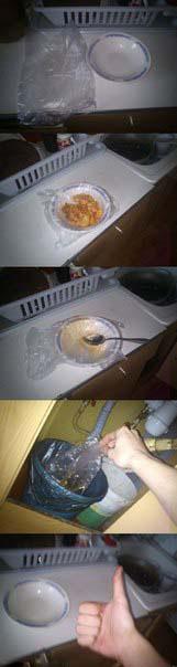 Abwasch Trick - Teller abwaschen leicht gemacht
