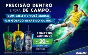 Promoção Gillette Compre Ganhe Copo Neymar Jr Cara do Neymar