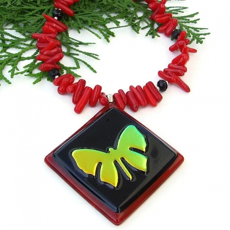 butterfly necklace gift for women