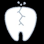 割れた歯のイラスト