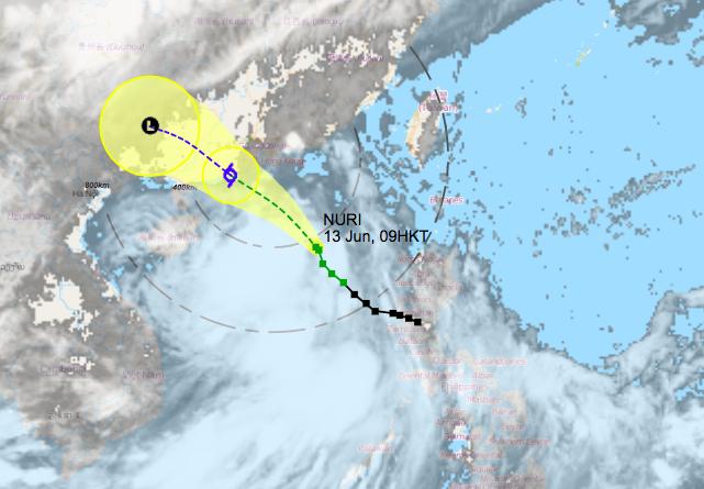 Pergerakan Angin Terus Menguat, Sinyal Topan NURI T3 Diperkirakan Akan dikeluarkan Siang ini