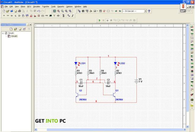 Tampilan Electronic Workbench