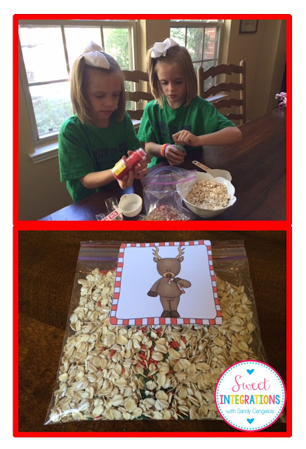 Your students will love making Christmas Tradition of Making Reindeer food. The recipe is simple and fun for all. It even has Rudolph's nose!