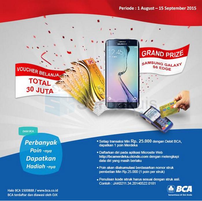Promo BCA Merdeka Berhadiah SAMSUNG Galaxy S6