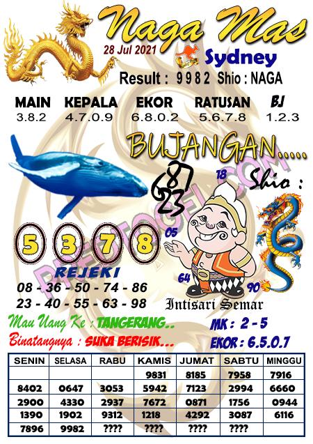 Syair Nagamas Sdy Rabu 28 juli 2021