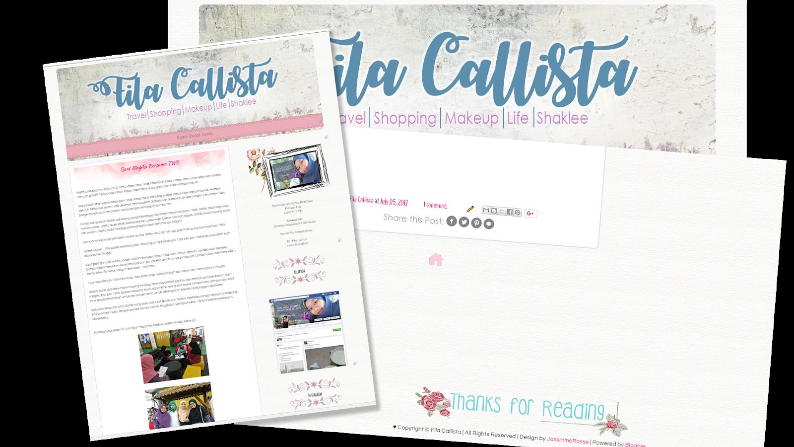 Filla Callista Blog