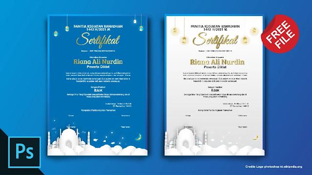 Sertifikat PSD : Download Kumpulan Sertifikat Ramadhan Photoshop Gratis