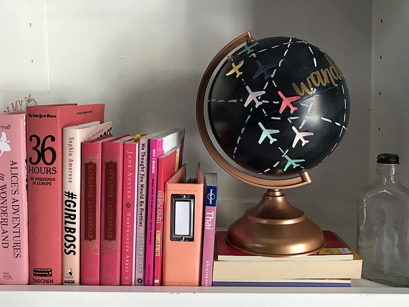 Chalkboard Globe Home Decor Jamie Makes