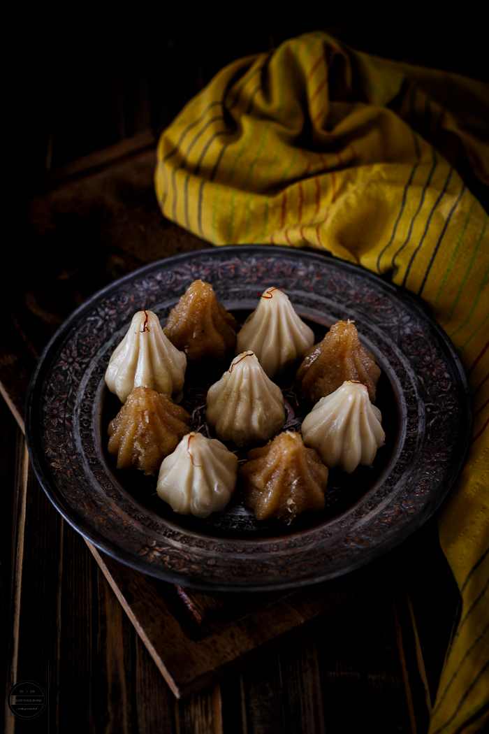 Modak are Ganpatiji's favourites and these modak are sweet stuffed dumplings are offered as prasad to Lord Ganesha. Cashew Caramel Modak This modak are quick and easy to make and it's super tempting and toothsome, you'll need only five ingredients.