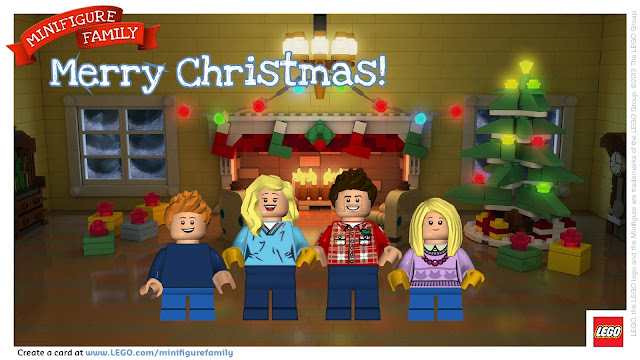 LEGO Minifigure Holiday Digital Card