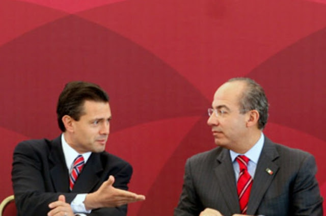 Peña Nieto, Calderón
