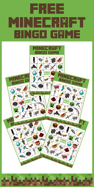 Free Minecraft bingo