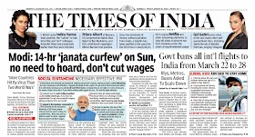 Times Of  India Epaper 20th March 2020