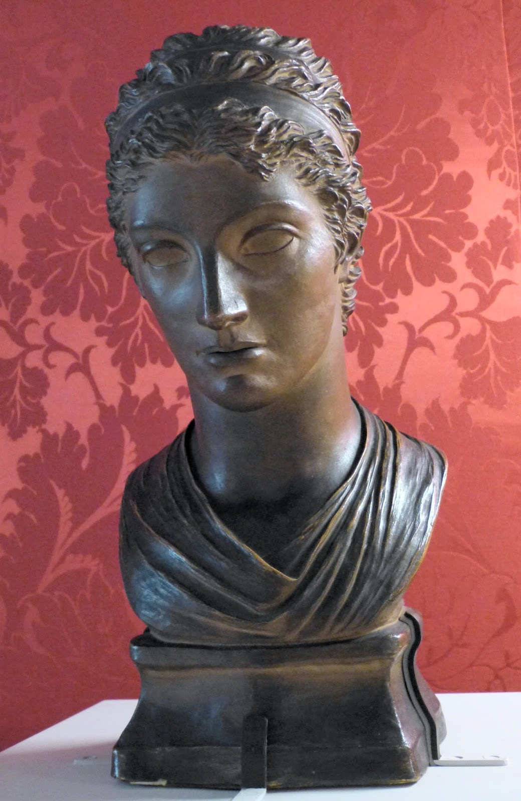 Portrait bust of Mary Berry  by Anne Damer (1793)